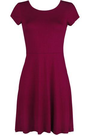Black Premium by EMP Rotes Kleid mit Rückenausschnitt und dekorativer Schnürung Kurzes Kleid