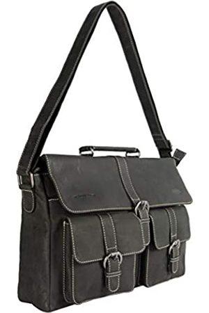 ARRIGO BELLO Leder-Kuriertasche für Herren und Damen - Lederlaptoptasche 15.6 Zoll • Business • Schultertasche • Aktentasche • Schultasche • Büffelleder - 39 x 9.5 x 24 cm