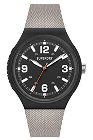 Superdry Herren Uhren - Herren Analog Quarz Uhr mit Silikon Armband SYG345E
