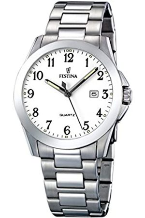 Festina Herren Analog Quarz Uhr mit Edelstahl Armband F16376/1