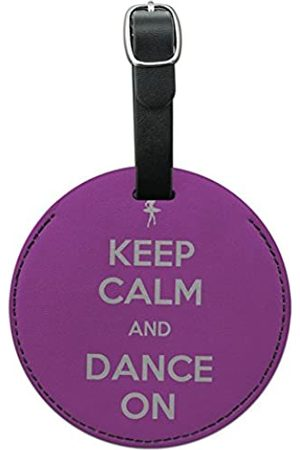 Graphics and More Koffer - Graphics & More Keep Calm and Dance On Ballet Dancer Round Leather Luggage Id Tag Suitcase