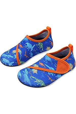 L-RUN Jungen Schuhe - Toddler Kids Swim Water Shoes Water Skin Barefoot Shoes Blue 4-4.5=EU36-37
