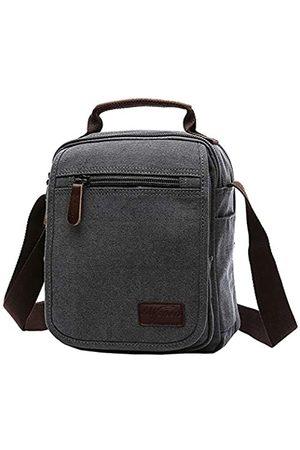 mygreen Kleiner Canvas Umhängetasche Schultertasche Messenger Bag Work Bag Größe S