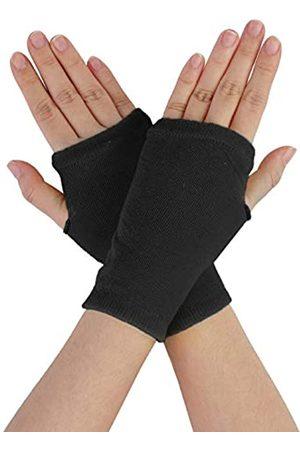 Sourcingmap Damen Handschuhe - Damen Paar Glitter elastisch Fingerlose Fingerfrei strickend Handschuhe