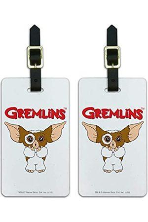 Graphics and More Gremlins Gepäckanhänger Gizmo Logo Koffer Handgepäck Karten – Set von 2