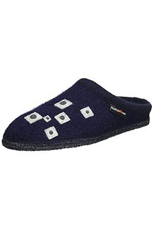 Haflinger Unisex-Erwachsene Walktoffel Geo Pantoffeln, (Ocean)