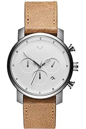 MVMT Herren Uhren - HerrenChronographQuarzArmbanduhrmitLederarmband