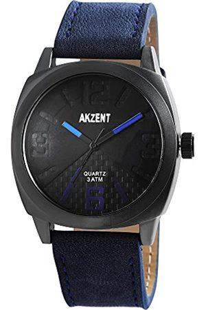Akzent Herren Analog Quarz Uhr mit Leder Armband SS7571200011