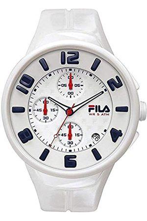 Fila Herren Uhren - UnisexErwachseneAnalogQuarzUhrmitSilikonArmband38-033-001