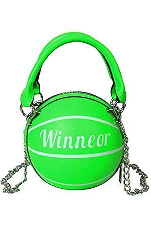 WOG2008 Basketballförmige Handtasche Kuriertasche Geldbörse Süße Tote Mini Schulter PU Leder Runde Sommer Handtasche Damen Mädchen