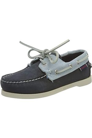 SEBAGO Jungen Stiefel - Portland NBK Panama K Bootsschuh, Navy-Ltbluewhite
