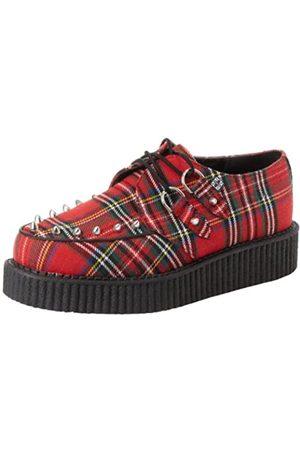 TUK Sneakers - Mondo Lo Creeper, Unisex-Erwachsene Hohe Sneakers, (red Tartan with Cone Studs)