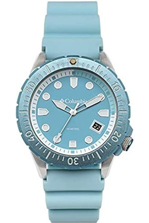 Columbia Pacific Outlander Quarz-Armbanduhr aus Edelstahl, mit Silikonarmband, Blau