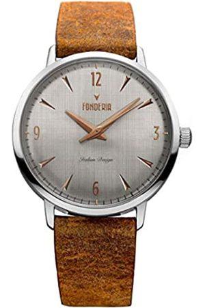 Fonderia Herren Uhren - Herren Analog Quarz Smart Watch Armbanduhr mit Leder Armband
