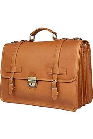 Texbo Herren-Aktentasche, tragbar, aus Vollnarbenleder, 35,6 cm (14 Zoll) Laptoptasche