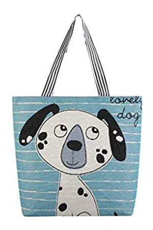 CAOCH Canvas-Tragetasche für Damen, wiederverwendbare Einkaufstasche, tragbare Schultertasche