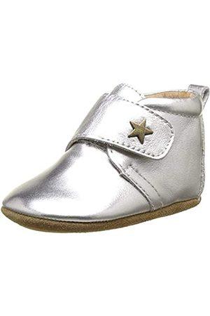 Bisgaard Unisex Baby Velcro Star Hausschuhe, (01 Silver)