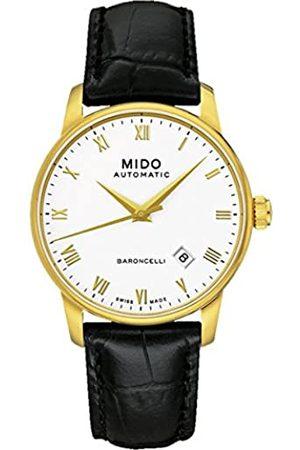 MIDO Herren-Armbanduhr BARONCELLI II Gent Analog Automatik Leder M8600.3.26.4