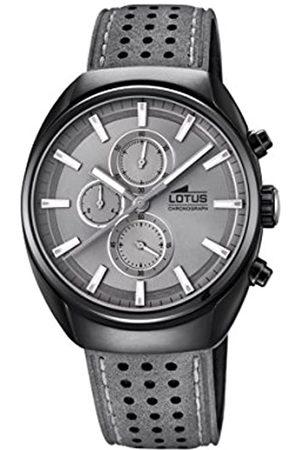 Lotus Herren Uhren - Herren Chronograph Quarz Uhr mit Leder Armband 18567/3