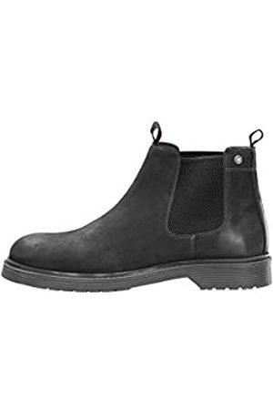 JACK & JONES Herren Chelsea Boots - Male Stiefel Leder 42Pirate Black