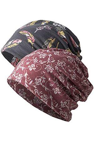 LUFUTE Damen Hüte - Damen Slouchy Beanie Chemo Mütze Baggy Schlafmütze Infinity Schal - - Einheitsgröße