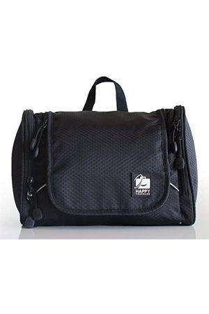 Happy Traveler Kulturbeutel zum Aufhängen, mit Saugnapf Seitentaschen mit Zwei Reißverschlüssen. Für Damen und Herren. Leicht und robust. Perfekt für Camping