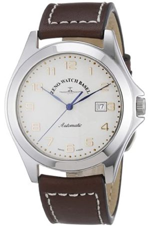 Zeno Herren-Armbanduhr XL Ghandi Analog Automatik Leder 8112-f2