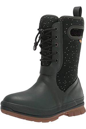 Bogs Damen Winterstiefel - Damen Crandal Lace Snow Boot Schneestiefel, Speckle Print-dunkelgrün