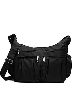 VOLGANIK ROCK Crossbody Geldbörsen für Frauen RFID Schulterhandtaschen Wasserdicht Nylon Reisetasche Pocketbooks, ( - Large)