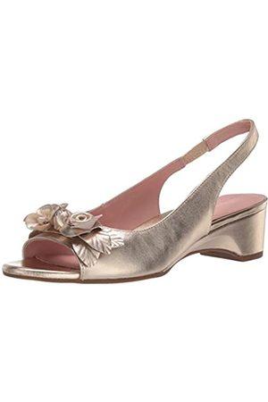 Taryn Rose Damen Sandalen - Damen-Sandale mit Slingback-Absatz, (platin)