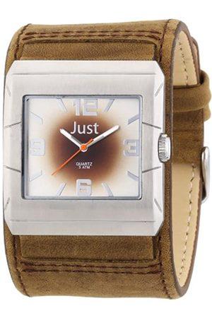Just Watches Herren Uhren - Herren-Armbanduhr XL Analog Leder 48-S2566-SL-BR