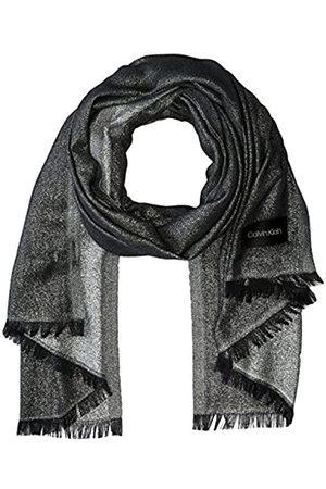 Calvin Klein Damen Schals - Damen Lightweight Poly and Lurex Plaited Scarf Pashminaschal