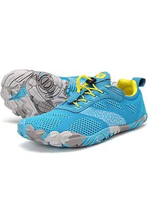 JOOMRA Minimalistische Damen-Barfußschuhe für Traillauf, breite Zehenbox, Blau (2_ Hellblau)