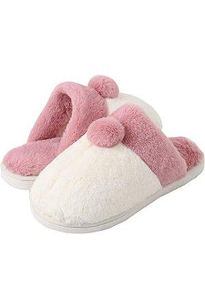 Kiwufoder Womens Mens Slippers Corgi Fluffy Fuzzy Soft Warm Cozy House Shoes
