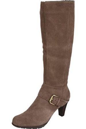 Ciao Bella Damen Overknees - Damen Creme Kniehohe Stiefel, (Braungrau - Taupe Suede)