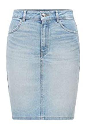 HUGO BOSS Damen Miniröcke - Damen Denim Skirt 1.0 Minirock aus hellblauem Stretch-Denim mit hohem Bund