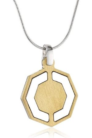 ORPHELIA Jewelry Unisex-Halskette mit Anhnger 925 Sterling Silber Zweifarbig 42cm ZK-2635