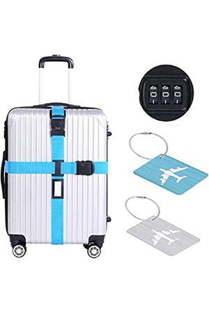 HOOPE Laptop- & Aktentaschen - Lange Gepäckgurte mit 3-stelligem Passwortschloss und Metall-Etikett