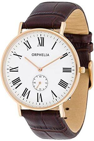 ORPHELIA Herren-Armbanduhr Charming Analog Quarz Leder