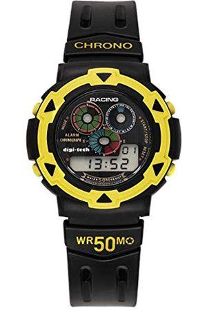 Digi-Tech Herren Uhren - Herren-Armbanduhr Chrono Race Digital Quarz Kautschuk DT102929