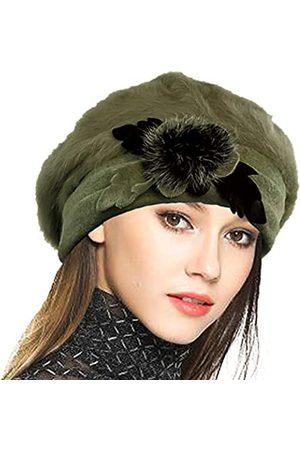 VECRY Damen Hüte - Damen Wintermütze aus 100 % Wolle - - Einheitsgröße