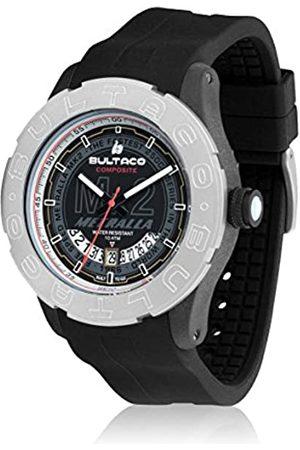 Bultaco Herren Uhren - Herren Analog Quarz Uhr mit Kautschuk Armband H1PB48S-CB2_Negro
