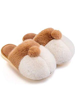 posee Damen Hausschuhe - Corgi Hausschuhe, Fuzzy Animal Hausschuhe Corgi Butt, Pelz Pantoffeln Plüschfutter, Winter Hausschuhe für Frauen und Männer