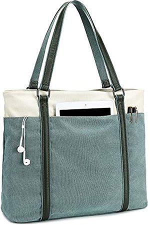 BTOOP Damen Handtaschen - Damen Tragetasche für Arbeit Lehrer Canvas Laptop Tote Leichte Handtasche Schultertasche Canvas Tote Bag für Laptop 15