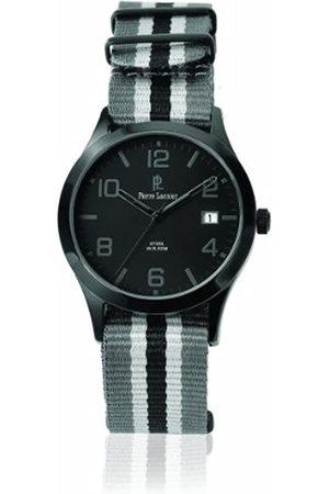 Pierre Lannier Herren Uhren - 240 F439 – Armbanduhr – Quarz Analog – Zifferblatt Armband Stoff zweifarbig