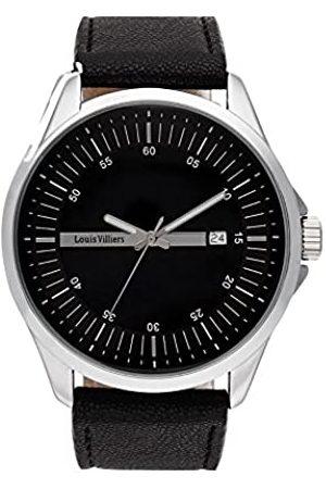 Louis Villiers Unisex Analog Quarz Uhr mit Edelstahl Armband AG3804-01