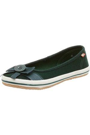 BC Footwear Damen Ballerinas - Ballerinas für Damen, Grün (smaragdgrün)