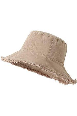 Lanzom Sonnenhüte aus Baumwolle mit Quaste, breite Krempe, verstaubar, Strandhut für Reisen, Outdoor