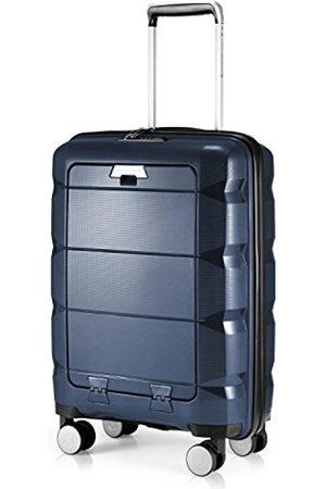 Hauptstadtkoffer Taschen - Britz - Handgepäck mit Laptopfach Hartschalen-Koffer Trolley Rollkoffer Reisekoffer, TSA, 4 Rollen, 55 cm