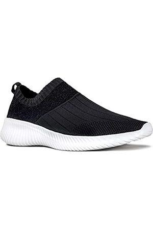 Qupid Damen Schuhe - Triad Sneakers | Tennisschuhe für Damen | Wanderschuhe Damen, Schwarz (Schwarze Fliege Strick)